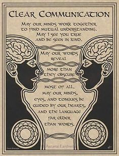 Wiccan House Blessings Poster or Book of Shadows Page Wicca Pagan Witchcraft in Collectibles, Religion & Spirituality, Wicca & Paganism Clear Communication, Communication Quotes, Communication Process, Communication Relationship, Effective Communication, Magick Spells, Real Spells, Healing Spells, Pagan Witchcraft
