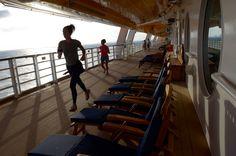 Disney Cruise Line - Jogging on deck