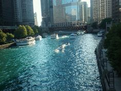 Boating on the Chicago river