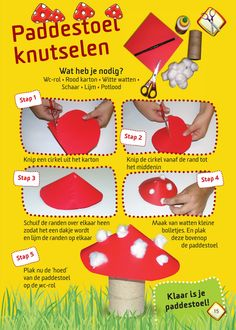 Ideas for Kids Craft Autumn - Knutselideeën Herfst Fall Arts And Crafts, Easy Fall Crafts, Fun Crafts For Kids, Fall Diy, Toddler Crafts, Preschool Crafts, Diy For Kids, Activities For Kids, Mushroom Crafts