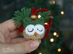 Christmas Gift For Kids Owl Ornament Toys Christmas Tree Decorations Red Green Gold Christmas Decor Xmas Presents Christmas Stocking Fillers Christmas Stocking Fillers, Christmas Owls, Christmas Sewing, Crochet Christmas, Christmas Gifts For Kids, Handmade Christmas, Christmas Time, Christmas Crafts, Christmas Ornaments