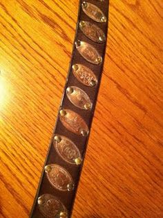 Souvenir penny collection belt!