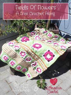 Fields Of Flowers 2017 Throw - free crochet pattern | Creative Crochet Workshop