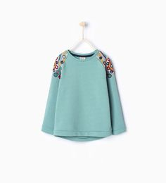 Image 1 of Mirror embroidered sweatshirt from Zara