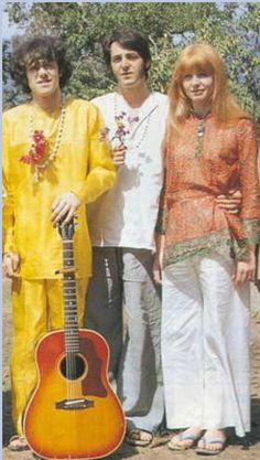 1968: Donovan, Paul McCartney and Jane Asher in India.