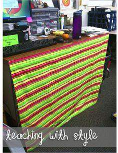 Classroom DIY: DIY Desk Skirt