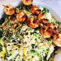 Shrimp Cesar Salad, Dinner Salads, Dinner Dishes, Food Dishes, Side Dishes, Salad Recipes, Healthy Recipes, Healthy Meals