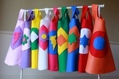 Set of 10 Superhero Capes  It's a Craft It's by JustAddKidsParties -- make your own superhero capes!!! great party idea