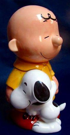 Charlie Brown and Snoopy Cookie Jar