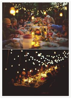 If you had a fairy light party no one would ever want to leave.