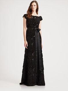 Tadashi Shoji...if I could wear black to my wedding, I would wear this!