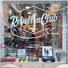 This beautiful window is made by @_byloren_ , you can find it at @derebellenclub ! And they did something extra because @duncgid made a super cool music installation as well 👏🏻! Thank you for joining us!  #amsterdam #illustration #rebellenclub #windowillustration #sculpture #installation #haarlemmerbuurt