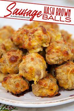 Bisquick Recipes, Sausage Recipes, Pork Recipes, Cooking Recipes, Meatball Recipes, Breakfast Dishes, Breakfast Time, Breakfast Recipes, Lunches