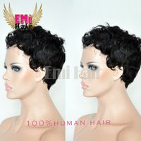 New Brazilian Short human Short Curly hair wig hot sale bob style wigs Best Quality hair lace front wigs for black women