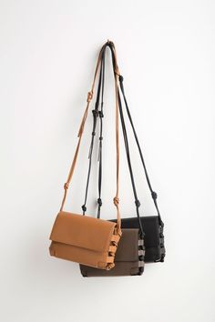0df1c1be127 The classic  vonholzhausen Crossbody bag in natural grained soft Italian  leather. Interior includes credit