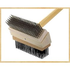 Texas Brush Grill Brush Brush: Stainless/Black Steel TGB SS/BS