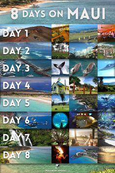 8 Maui days itinerary