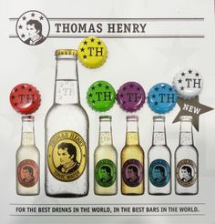 Thomas-Henry-mixers-cartel. Tonic Water, Gin And Tonic, Mixers, Cool Bars, Bottle Art, Fun Drinks, Food, Essen, Meals