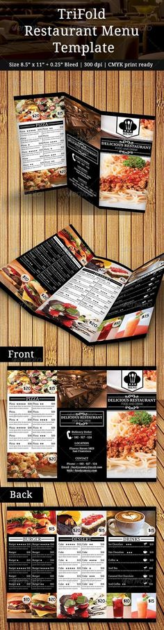 Clean Food Menu 2 Food menu, Menu and Food menu template - restaurant menu design templates