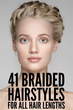 41 Braided Hairstyles for All Hair Lengths | If you're looking for easy hairstyle tutorials for short, medium, or for long hair, we've curated 41 step-by-step hair videos for all hair lengths. Perfect for work or for school, for a wedding or gala, or for casual get-togethers with friends, we've included simple half up half down options, formal updos, and elegant boho styles you'll love! #braidedhairstyles Tree Braids Hairstyles, Half Braided Hairstyles, Braided Hairstyles Tutorials, Easy Hairstyles, Stylish Hairstyles, Gorgeous Hairstyles, Braided Updo For Short Hair, Step Hairstyle, Woman Hairstyles