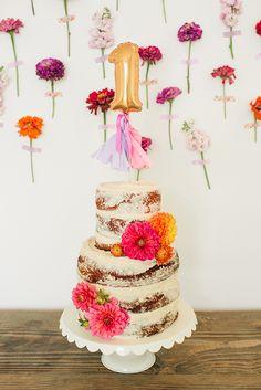 Flowery Birthday Party #firstbirthday