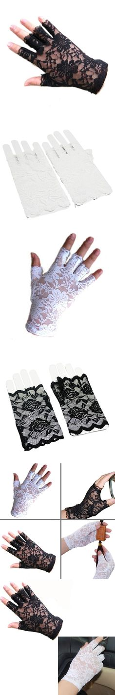 Sexy Dressy Women Lady Lace Gloves Mittens for Accessories Fingerless  9ED8