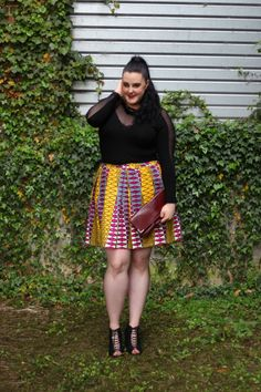 Plus-size bodysuit with wax skirt http://anaispenelope.blogspot.fr/2015/05/french-curves-21.html