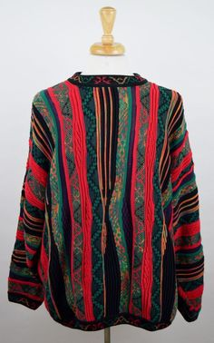 Norm Thompson Vintage Men's XXL 2XL Multi-Color Tundra Cosby Coogi Style Sweater #TundraCanada #Crewneck