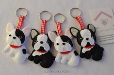 felt dog keychain