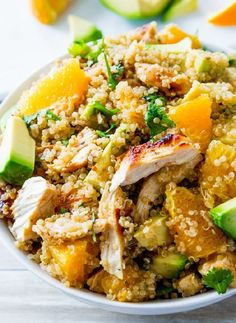 Low FODMAP & Gluten free Recipe - Chicken salad with quinoa and oranges  http://www.ibssano.com/low_fodmap_recipes_chicken_quinoa_oranges.html