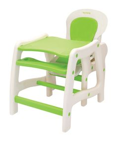 Eat & Play: Combination High Chair and Activity Center System Outdoor Chairs, Outdoor Furniture, Outdoor Decor, Activity Centers, Activities, Play, Green, Home Decor, Products