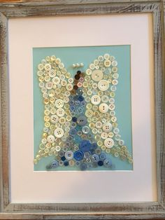 Your place to buy and sell all things handmade Christmas Angels, Christmas Crafts, Xmas, Button Cards, Button Button, Sewing Projects, Craft Projects, Angel Wings Wall Decor, Handmade Angels