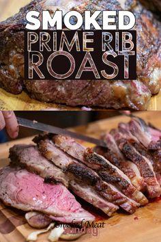 My Favorite Smoked Prime Rib Roast Recipe Smoked Meat Sunday outdoor cooking Boneless Prime Rib Roast, Smoked Prime Rib Roast, Boneless Ribs, Smoked Ribs, Pork Roast, Roast Brisket, Smoked Beef, Beef Jerky, Smoked Meat Recipes