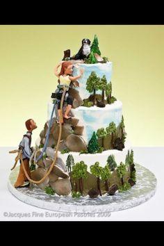 Climbers wedding cake! Haha