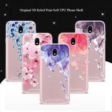 """Caso capa Para O Samsung Galaxy J5 2017 J530 5.5 """"3D Casos de Telefone Flor Alívio Pássaro Rendas Coque Para Samsung J5 Pro 2017 Versão DA UE(China)"""