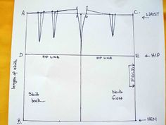 Tutorial on how to draft your own custom fit pencil skirt sloper pattern. Unique spreadsheet included does all the calculations for you.Making a pencil skirt sloper and the resulting skirt - So Sew Easy Tracing Burda patterns quickly and easily and a Burda Sewing Patterns, Pattern Drafting, Techniques Couture, Sewing Techniques, Pencil Skirt Tutorial, Pola Rok, Pencil Skirt Outfits, Pencil Skirts, Pencil Dresses