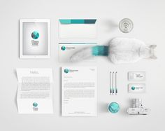 Glasswear Industries identity / includes a branded cat!