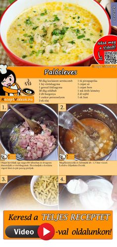 The Palóc soup is a real traditional Hungarian soup recipe! You can easily find the Palóc Soup recipe by scanning the QR code in the top right corner! Hungarian Cuisine, Hungarian Recipes, Hungarian Food, Soup Recipes, Cooking Recipes, Healthy Recipes, Recipies, Do It Yourself Food, Good Food