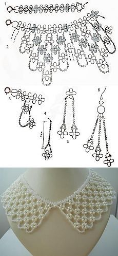 the bottom picture. The original schematic with uneven hem and bright flower colors would be adorableIgnore the bottom picture. The original schematic with uneven hem and bright flower colors would be adorable Diy Necklace Patterns, Beaded Jewelry Patterns, Beading Patterns, Loom Beading, Beading Projects, Beading Tutorials, Bead Crafts, Jewelry Crafts, Jewelry Art