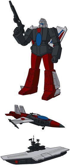 Autobot Triple Changer Broadside G1 Cartoon Artwork