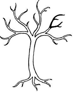 Раскраски Деревья без листьев