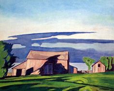 CASSON, A.J. - Canadian artist (1898-1992): -- 'Barn at Bayview'.