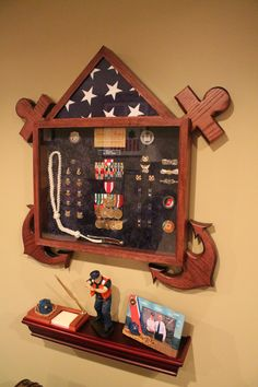 """""""My Hero and Husband received this for serving 30 years in the U.S. Coast Guard.""""  Great display for the coastie in your life! - MilitaryAvenue.com"""