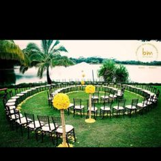 What a cool idea for a wedding aisle.  Every person gets a great picture plus the perfect element of nature's sacred geometry.