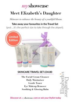 Only from My Showcase.com Limited Edition Travel Pack to take in hand luggage through the airport, a festival or just a night away. #youngskin #glow £38.40  www.myshowcase.com/stylist/zoe_quirici