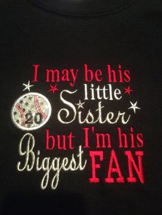 Customized Little Sister Baseball Shirt   on Etsy, $17.00