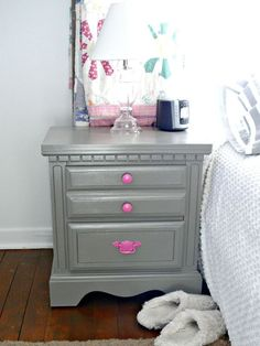 trash to treasure nightstand redo, painted furniture