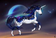 Somnium by Dezaaru on DeviantArt Mystical Animals, Mythical Creatures Art, Mythological Creatures, Magical Creatures, Unicorn And Fairies, Unicorn Fantasy, Unicorn Art, Fantasy Art, Horse Drawings