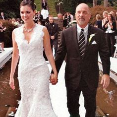 Former husband and wife couple: Billy Joel and Katie Lee at their wedding ceremony