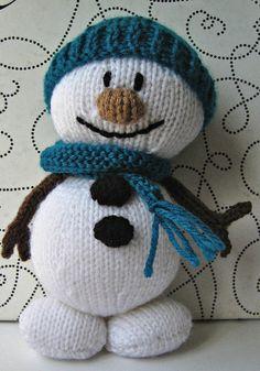Mr snowman knitting pattern